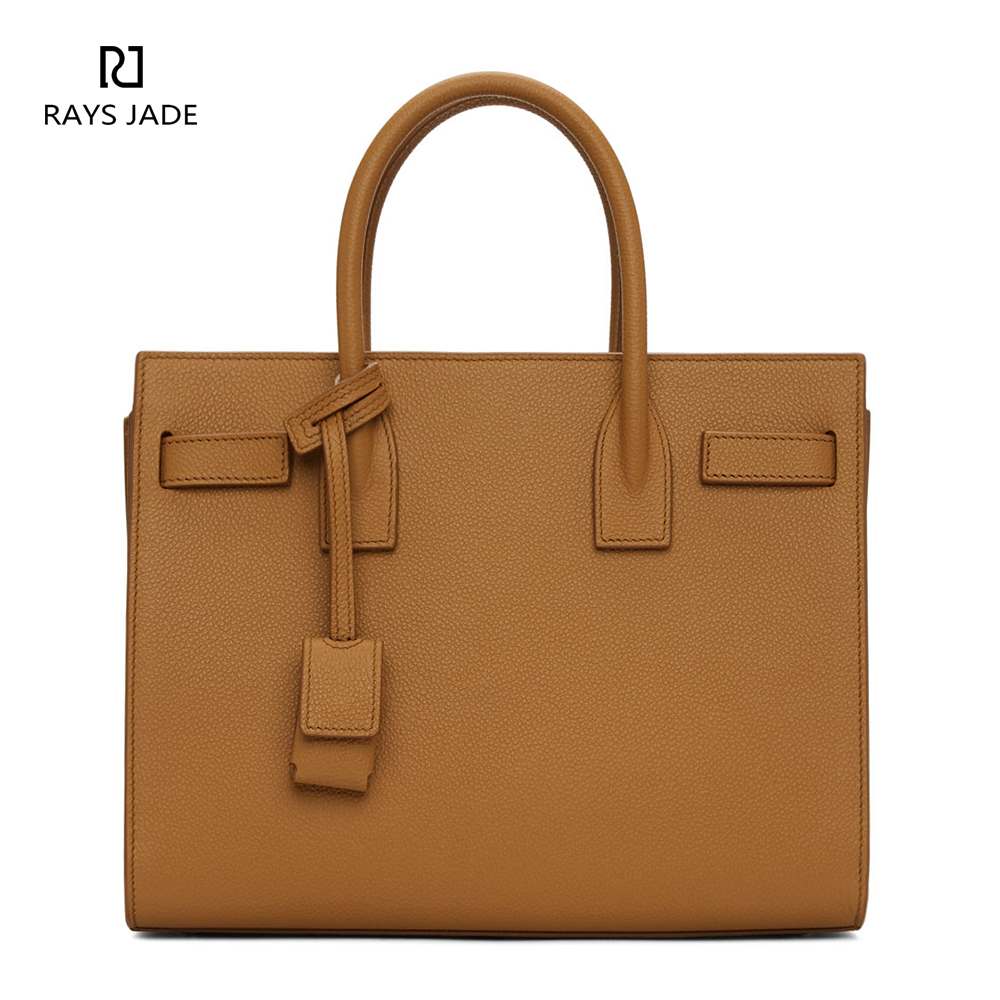 Designer leather brown satchel bag women handbag