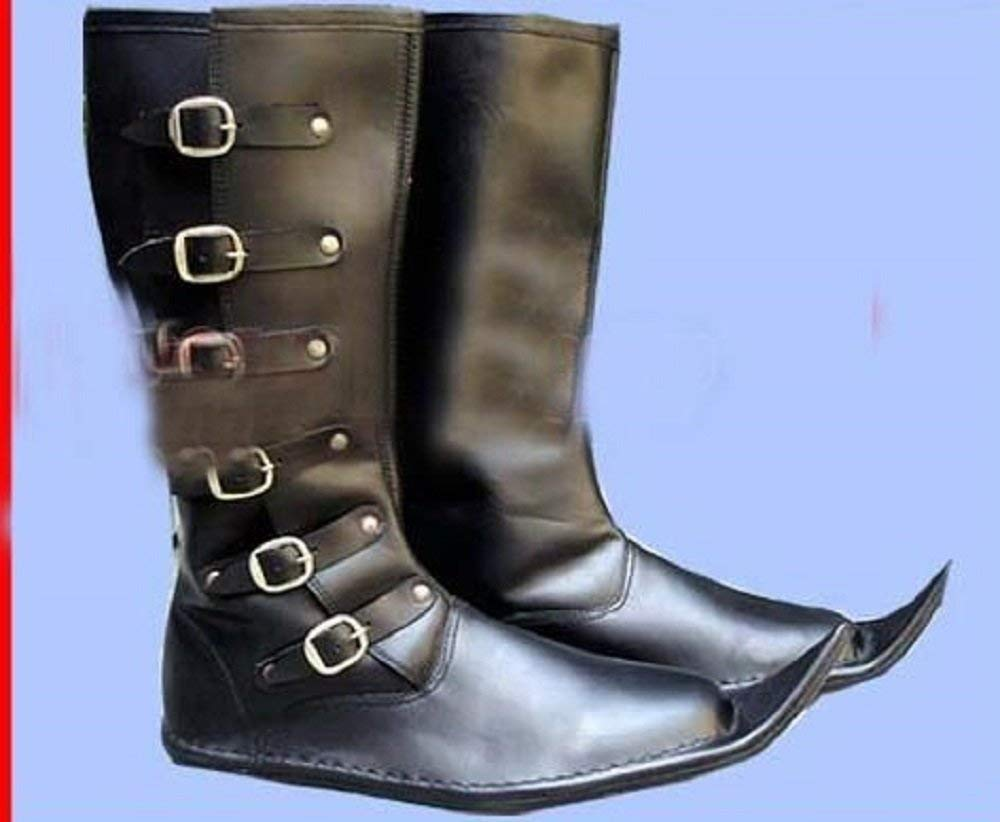 d2f432438d7 SANGAMSTEELCRAFT New Gift Medieval Leather Boots Re-enactment Dress Costume Shoes  Men's Long Boot