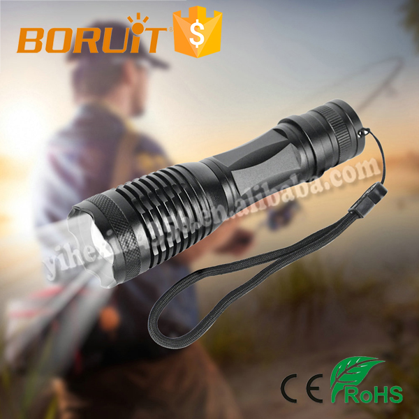 Boruit C11 Flashlight T6 5 Modes Torch Zoomable 300 Long Light Distance Nice Outlook