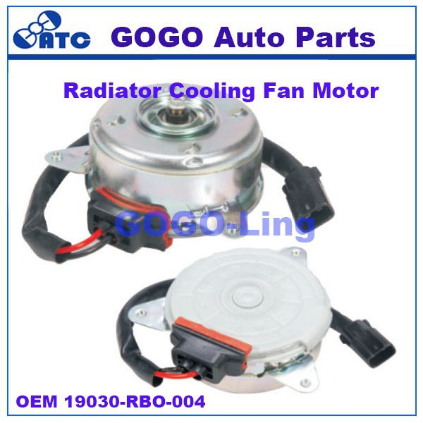 GOGO radiator cooling fan motor for Honda city OEM 19030-RBO-004 19030RBO004