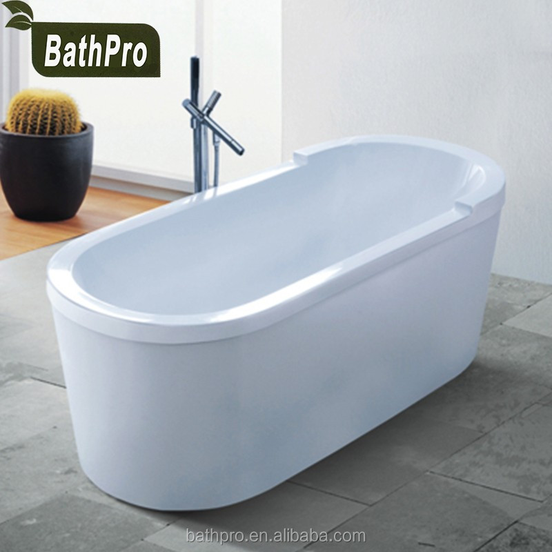 India freestanding small size oval shaped acrylic soaking portable bathtub for adults