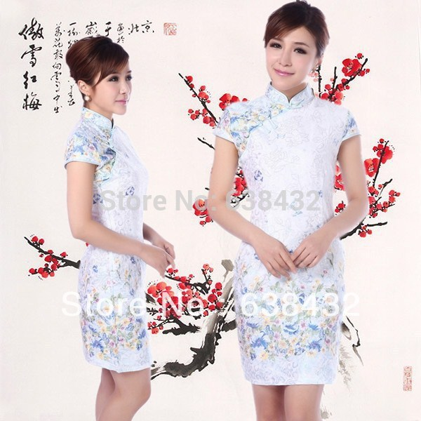 2915f97900f5a Free Shipping 2015 fashion hot sale wedding dress traditional chinese dress  Chinese Traditional Cheongsam Short Dresses JY065