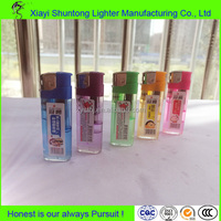Factory bulk cheap gas custom plastic dispoable cigarette electronic lighter
