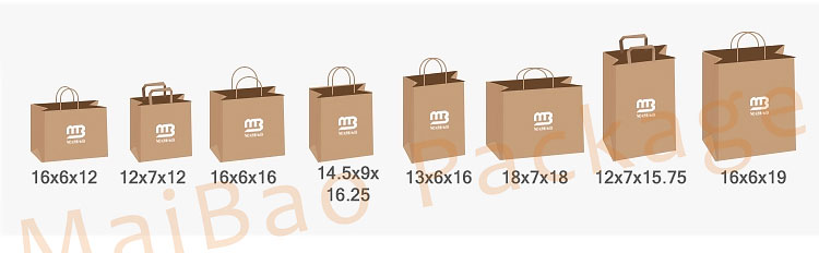 Cheap Recycled Custom Logo Printed Grocery Shopping Packaging Brown Kraft Paper Bag With Handles