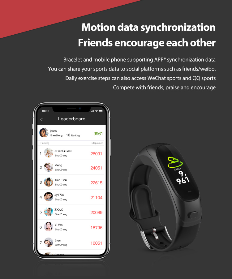 FITUP v08s smart watch with Color screen fitness tracker support audio call/music All in 1 smart fitness tracker wristband