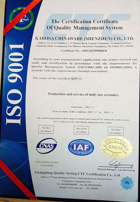 Company Overview - Karosa Chinaware (Shenzhen) Co., Ltd.