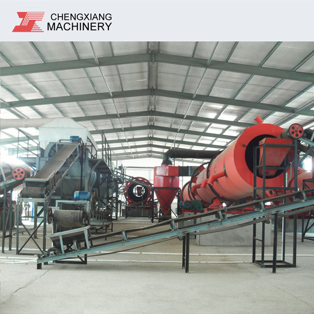 <strong>Chicken</strong> manure and wheat straw mixed processing organic fertilizer production line equipment
