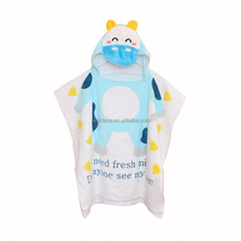 Cartoon 100% cotton hooded baby bath towel