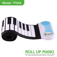Easy Roll MIDI OUT 37/49/61 Keys Roll Up Piano Portable Electronic Piano Keyboard