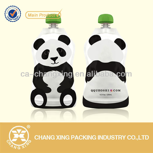 180ml bear shape plastic drink bag with nozzle cap for energy drink (22year manufacturer)