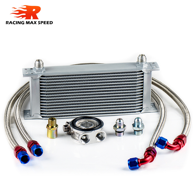 wholesale universal racing car row 16 excavator hydraulic oil cooler