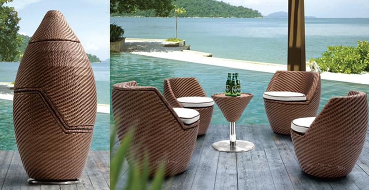 Stackable waterproof space saving furniture dining furniture set