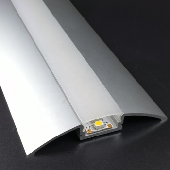 Floor U shape led strip aluminum channel and alu led profile for recessed wall or floor lighting