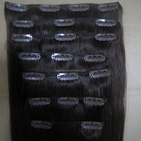 2017 New fashion good quality wholesaler hair unprocessed virgin really ukraine human hair clip-in