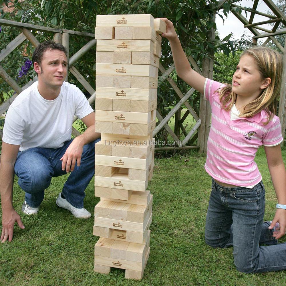 Juegos de jardín juego jenga jenga gigante clásico juego ...