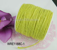 100m/roll Yellow natural jute twine for gift packing 2.0mm in thickness