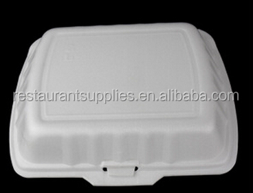 wholesale ps foam food container/ take away food container/ White 3-grid food container