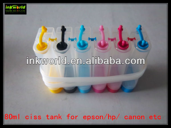 CISS tank for Epson P50/T50 /1400 printer , 6 colors continous ink supply system ink tank