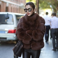 Women Coats Winter 2018 Ombre Clothing Ladies Faux Fur Coats