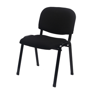 Metal Frame Fabric Armless Stacking Chair Visitor Conference Student Chair