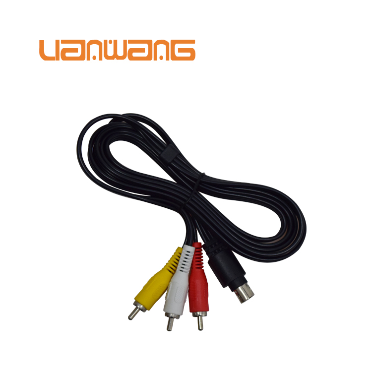 Hot sale 10 pin mini din to 3rca cable
