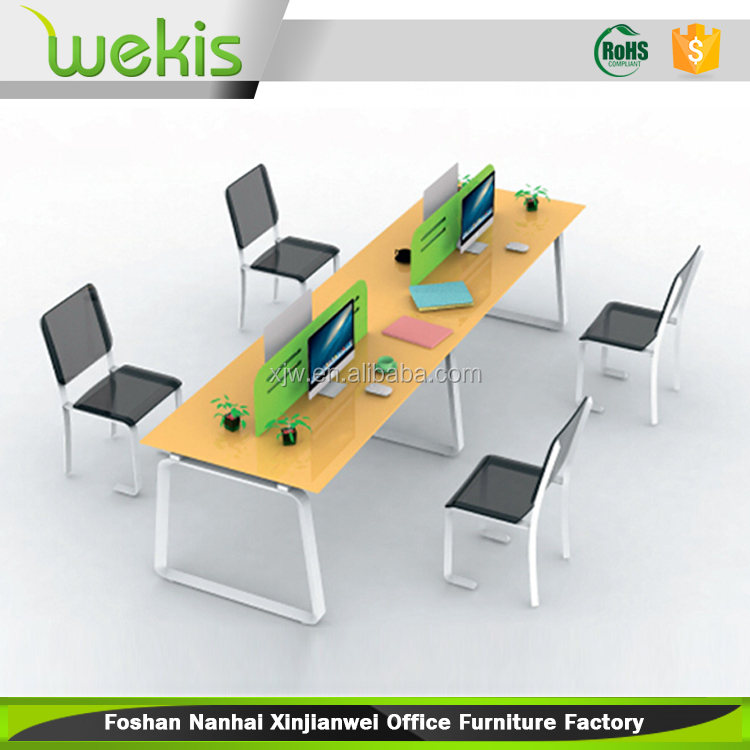 Latest 4 people open cubicle office workstation legs in malaysia for sale