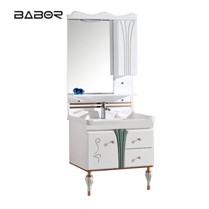 Floor Standing Cabinet Furniture design in zhejiang ,Rv Bathroom Vanity Bathroom Cupboards with Vanity Basin