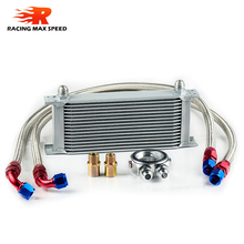 wholesale universal mocal racing car row 16 oil cooler kit motorcycles