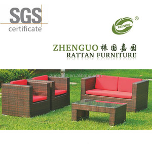 Outdoor golden simple and solid hand-weaved rattan/wicker sofa