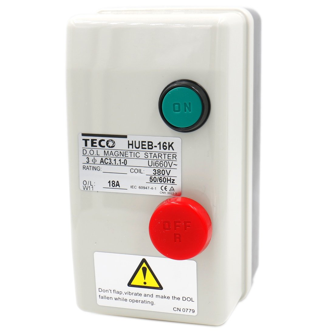 Circuit Magnetic Starter HUEB 16K Push Button Control Motor On Off Switch