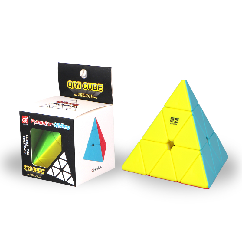 Qiyi Qiming Pyramid in puzzle stickerless