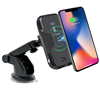 BHD Automatic Infrared Sensor 10W Mount Phone Stand Holder Fast Wireless Car Charger for iPhone xr xs max
