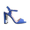 suede leather 10CM high heel shoe women stylish shoes peep toe sandals navy blue heels