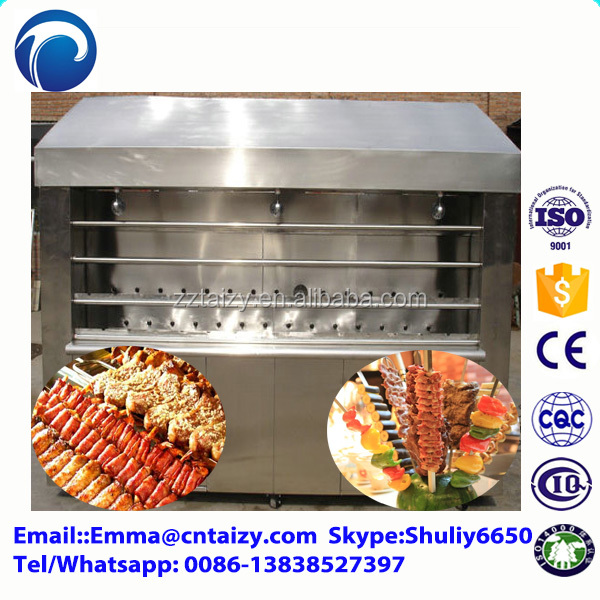 Braziliaanse churrasco machine braziliaanse rodizio machine gas kebab grill machine