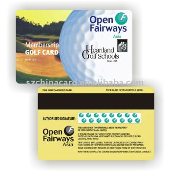7Th Year Golden Supplier Plastic Pvc Golf Club Membership Card