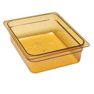Amber plastic GN pan high heat polycarbonate food pan
