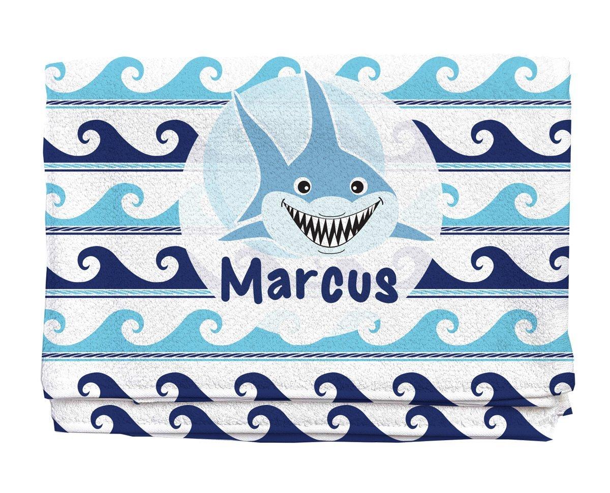 Shark Personalized Beach Towel | Kids Towels| Custom Camp Towels