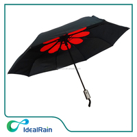 Latest develop 3 fold wholesale fashion umbrella