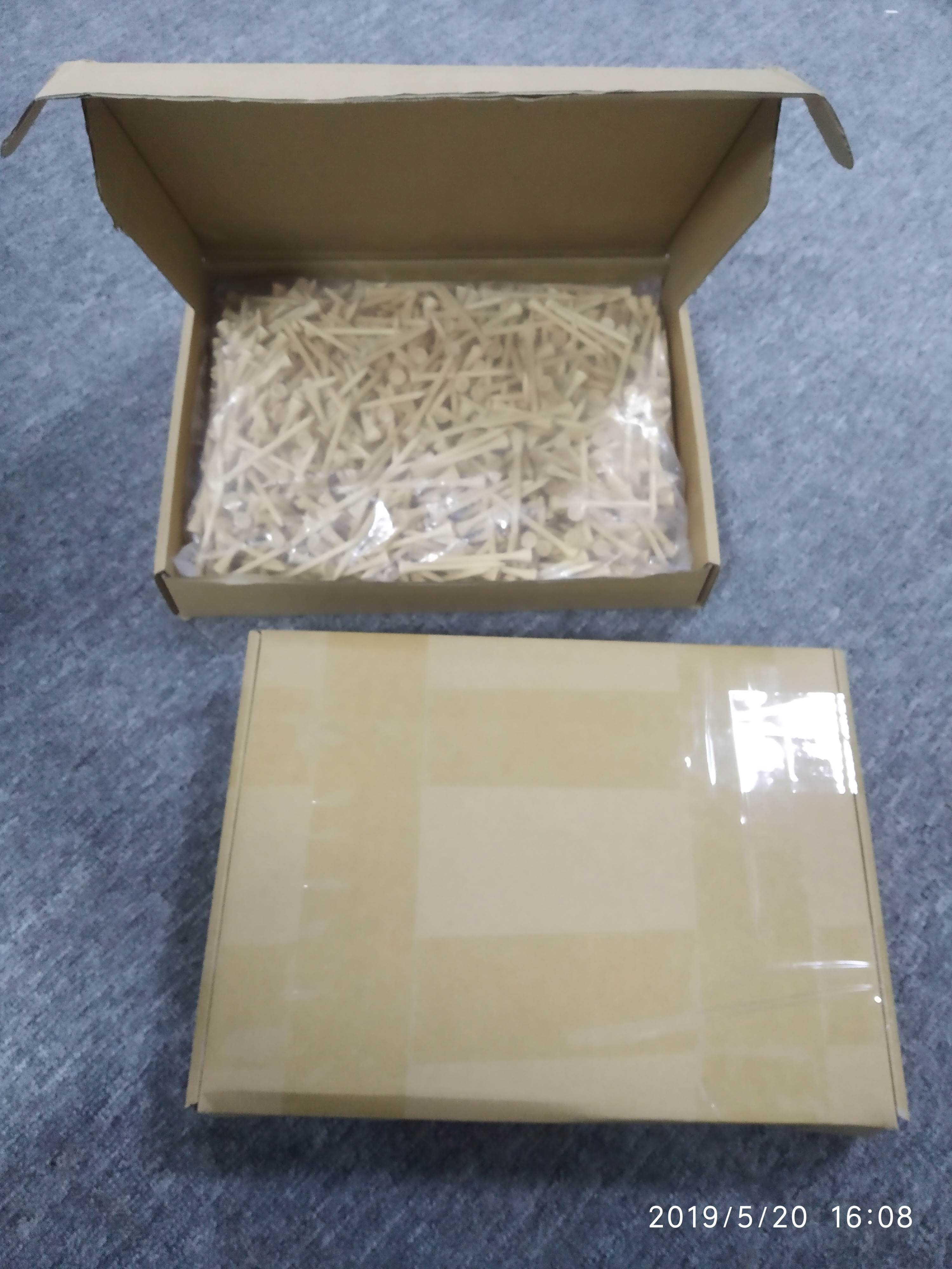 1000pcs per box wholesale blank 70mm high quality nature bamboo golf tee