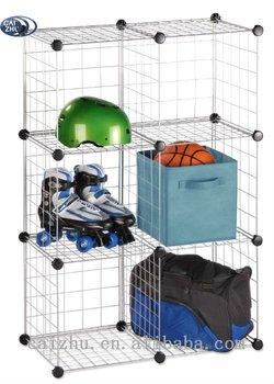 Interlocking 6 Wire Mesh Storage Cubes