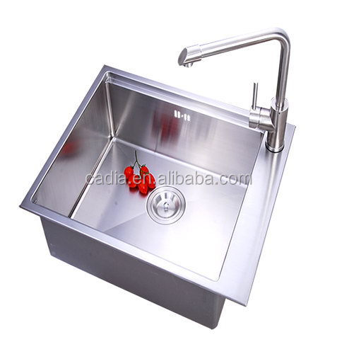Bottom price hot selling Under mounted 590X450X200mm Single Bowl vietnam handmade kitchen sinks