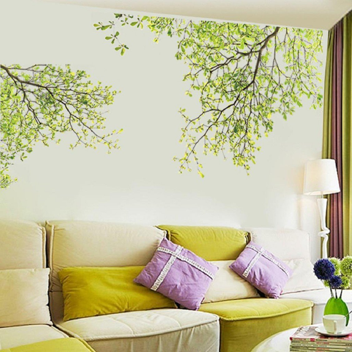 Naladoo New Nature Leaves Home Household Room Wall Sticker Mural Decor Decal Removable