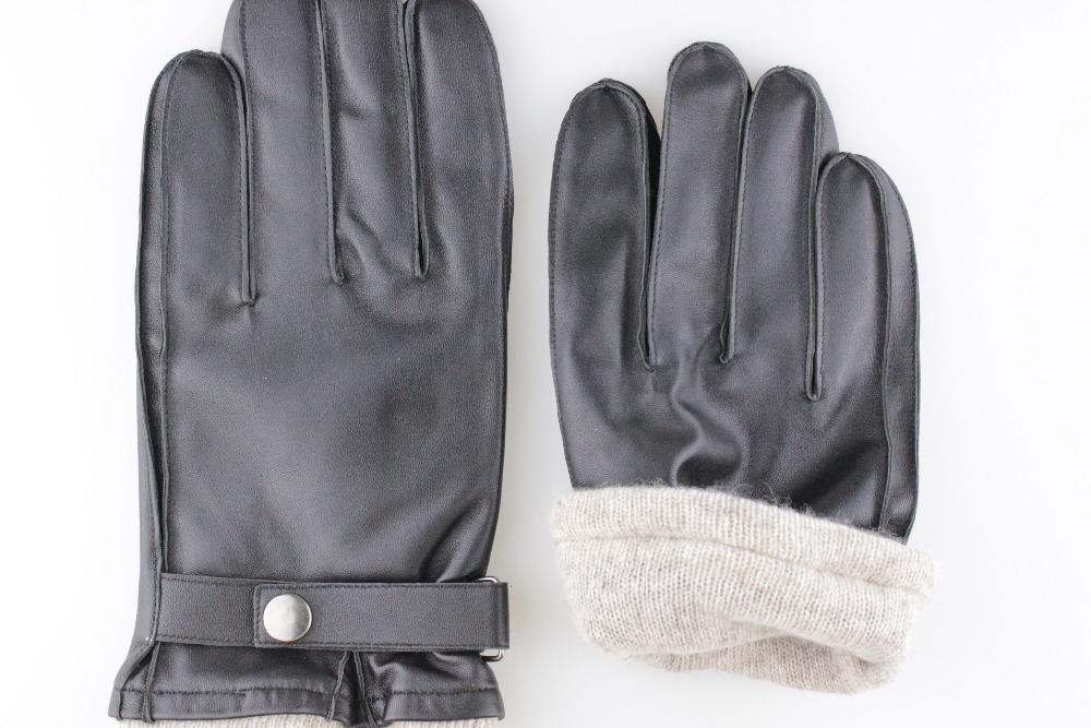 Men's cold weather leather gloves 2016 new style for Christmas