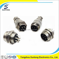 Metal GX16 5pin bend the dyadic cable attachment plug 90 degree aviation connector GX16 waterproof connector