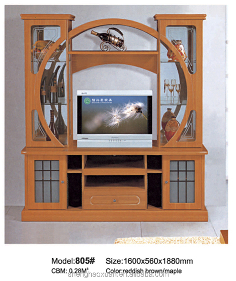 Tv Stand Designs With Showcase : Chinese factory wooden tv table cabinet showcase