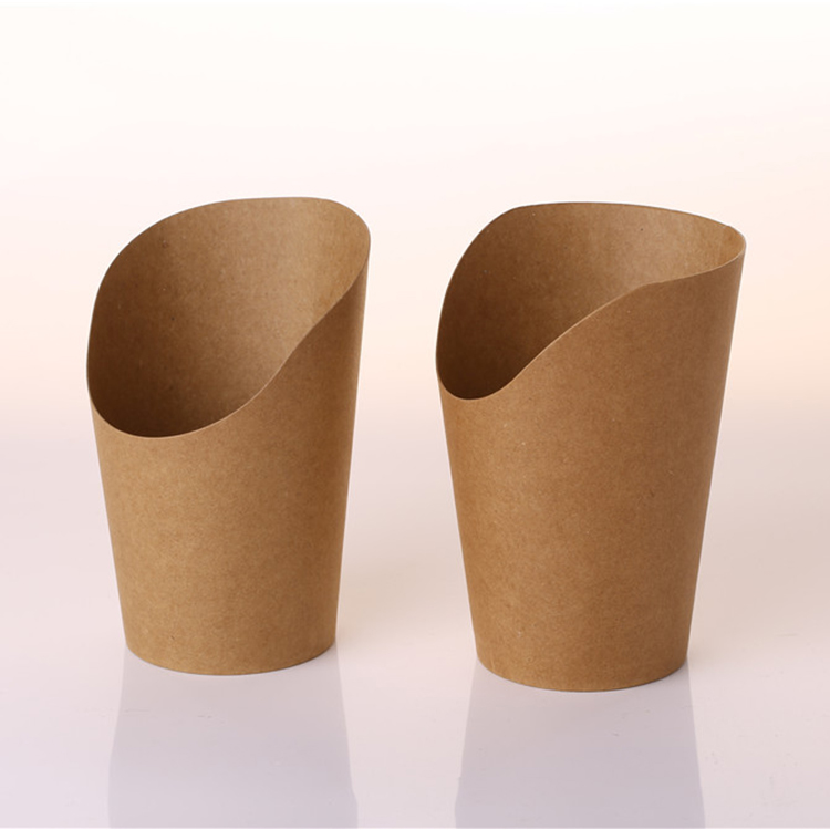 Low price guaranteed quality Recycled Disposable Poly Lactic Acid Laminated Light Frech Fries Kraft Paper Cups