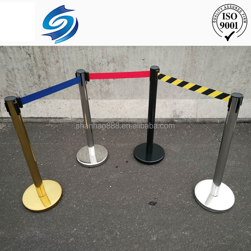 High quality steel queue stanchion pole barrier