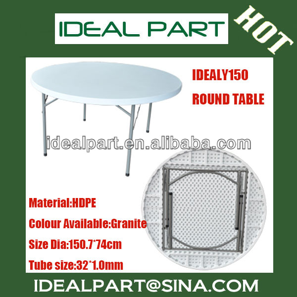 Outdoor furniture round table,blow mould,HDPE,Folding