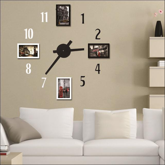 horloge num rique murale. Black Bedroom Furniture Sets. Home Design Ideas