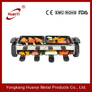 adjustable thermostat electric teppanyaki grill pan